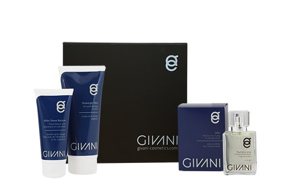 Cadeau Box 3 Men  Aftershave balsem & Showergel & Fragrance naar keuze. Nu met gratis Hygienic Handgel 200 ml.